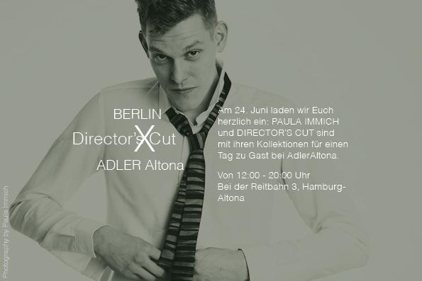 Das Berliner Herren Modelabel Director´s Cut ist für einen Tag zu Gast bei Adler Altona